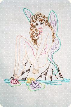 Pin-ups 2 Iron on Hand Embroidery Pattern (original design)