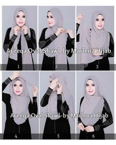 Lovely Hijab Tutorial With A Brooch. Love how these Asian women women wear their. Lovely Hijab Tutorial With A Brooch. Love how these Asian women women wear their scarves Square Hijab Tutorial, Simple Hijab Tutorial, Pashmina Hijab Tutorial, Hijab Style Tutorial, Hijab Fashion 2016, Fashion Mode, Fashion Muslimah, Fashion Hacks, Asian Fashion