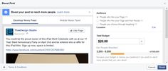 Learn how to #boost a #Facebook post to advertise your #smallbusiness.