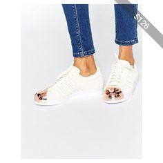 adidas Originals Superstar 80s Rose Gold Metal Toe Cap Sneakers