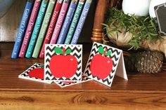 Back to School Apple Mini Note Cards /Mini Note Card Gift Set   by JustBeccuz