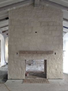 REAL Stone Fireplace. Color Is Cottonwood Cream Limestone From Orange  County Stone.
