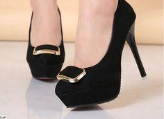 A030-BK, SIZE 34-39, HEELS-12, PLATFORM-2.5 Wholesale Shoes, Peeps, Peep Toe, Platform, Fashion, Moda, Fashion Styles, Heel, Wedge