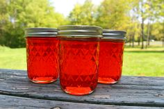 One of my friends who cans needs to make this Candy Apple Jelly for me. Candy Apple Jelly is a simple apple jelly recipe, which uses only four ingredients. The jelly tastes like baked apples, and makes a wonderful Christmas or Thanksgiving gift! Jelly Recipes, Jam Recipes, Canning Recipes, Apple Recipes, Recipies, Relish Recipes, Canning Tips, Juicer Recipes, Bread Recipes