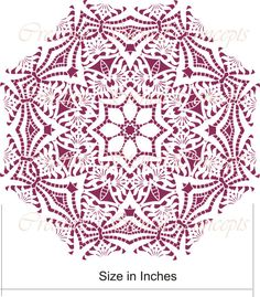 This would be lovely on top of a table. Decorative Mandala Design Stencil or Ceiling by CreativeStencils Snowflake Stencil, Mandala Stencils, Mandala Design, Mandala Art, How To Make Stencils, Making Stencils, Cake Stencil, Ceiling Medallions, Stencil Designs