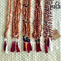 Mala Collective necklaces for meditation. // Mala Beads from Bali #malabeads #yoga #meditation #Bali