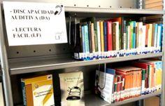 Centro de interés de libros y materiales para las personas con discapacidad auditiva