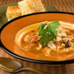 Slow Cooker Chicken Taco Soup #cool.  I don't like this website because you have to sign in, but you can get the ingredients list and figure it out.