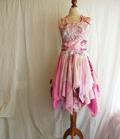 Mori Girl Dress Bridesmaid Dress in Shadows of Pink by cutrag, $177.77