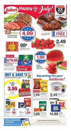 Bakers Weekly Ad June 28 - July 4, 2017 - http://www.olcatalog.com/bakers/bakers-ad.html