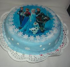 Dort Frozen s jedlým papírem Twin Birthday Cakes, Frozen Birthday Cake, Torte Frozen, Barbie Cake, Cakes For Boys, Party Cakes, Beautiful Cakes, Birthday Wishes, Cake Decorating