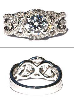 Artikel #Bp024 Vraag haar ten huwelijk u met dit prachtige effenen, halo, diamond engagement ring! Beschikt over een schitterende 1 karaat diamant in het midden ronde, deze prachtige 14K wit gouden verlovingsring zal hebben ook ongeveer 55 karaat ronde diamanten pavé de wervelende schacht voor extra dazzle vastgelegd. ---DIAMANT GIVEAWAY--- We zijn altijd zo weggeven diamanten, zoals Prachtige Petra op Facebook en de huidige wedstrijd! http://www.facebook.com/BeautifulPetra ...