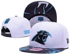 23e55a2d1 Men s Carolina Panthers 2017 NFL Draft Spotlight Liquid Chrome Team Logo Snapback  Hat - White   Black