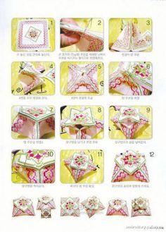 Biscornu, pincushions, GUARDATIJERAS, .... A fist CRUZ   Learning Crafts is facilisimo.com
