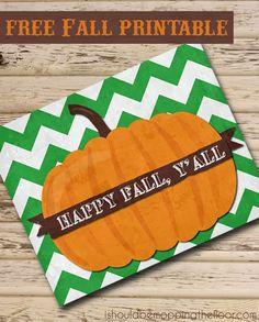 Fall Pumpkin Printable