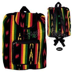 Rasta Colored Striped Backpack