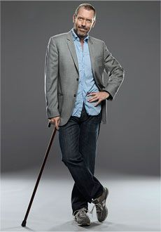 Hugh Laurie from House MD  Cane with attitude