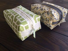 Doodles & Stitches make up bag from placemat