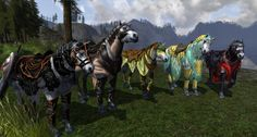 Some LOTRO War Steeds