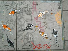 koi street art in san francisco by frankberlin, via Flickr