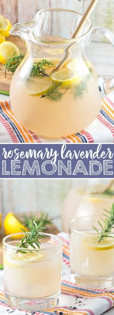 Rosemary Lavender Lemonade: spruce up some fresh squeezed lemonade for your next gathering with a few sprigs of rosemary and some dried lavender. Perfect for sipping, with or without a splash of vodka! {Bunsen Burner Bakery} via @bnsnbrnrbakery
