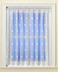Zen White Voile Curtain from Net Curtains Direct