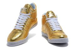 newest collection ae8f5 acaca Mujer Adidas Top Ten HI Sleek Bow W Brillante Oro t49Z4 1