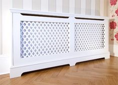 DIY radiator Covers to cover the questionable radiator in the baby room? Great idea and much cheaper than buying one.