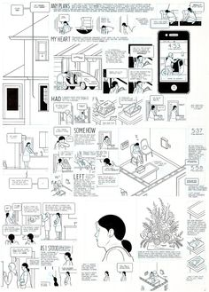 Original page by Chris Ware from Building Stories, published by Pantheon, 2011.