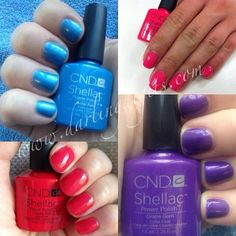 cnd shellac summer splash pictures - Google Search