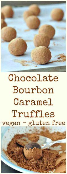 Bourbon Caramel Truffles @spabettie #vegan #glutenfree