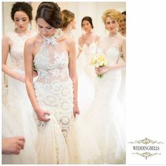 Lace, crystals and pearls...  Everything that you may wish for... and exclusively available at WEDDINGBELLS   #weddingbellsvalletta #weddingbells #bridalfashionshow #allforweddings #wedding #brides #annaromyshhautecouture #bridalhautecouture #forbridestobe #collection2017annaromysh #stunningdress #originalgowns #bridalmodel #lace #wedinspiration