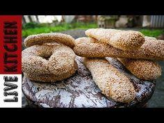 ΠΑΡΑΔΟΣΙΑΚΑ ΚΟΥΛΟΥΡΙΑ ΘΕΣΣΑΛΟΝΙΚΗΣ   LIVE KITCHEN - YouTube Bagel, Bread, Youtube, Recipes, Food, Eten, Recipies, Ripped Recipes, Bakeries