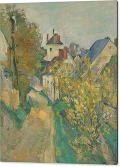 Art Acrylic Print featuring the painting The House Of Dr. Gachet In Auvers-sur-oise by Paul Cezanne