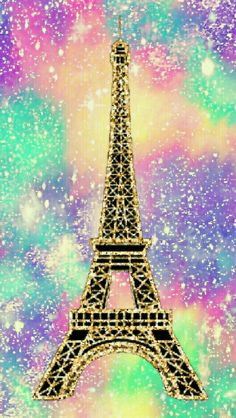 Rainbow Tower galaxy glitter wallpaper I created for the app CocoPPa!
