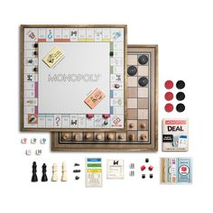 The vintage-finish wooden cabinet of this Monopoly game takes up a considerable amount of room, so it helps that it contains four other games, as...