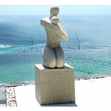 View the Loved One Modern Art Stone Statue - Large Garden Sculpture. Or see our full range of exquisite unique to Statues & Sculptures Online. Stone Garden Statues, Outdoor Statues, Modern Sculpture, Abstract Sculpture, Skyline Design, Metal Yard Art, Mother And Baby, Stone Carving, Art Google