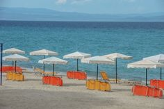 Amazing blue crystal clear water at Alexander the Great Beach Hotel - Let's enjoy the sun ! Beach Hotels, Hotels And Resorts, Halkidiki Greece, Slow Travel, Alexander The Great, Great Hotel, Crystal Clear Water, Enjoying The Sun, Thessaloniki
