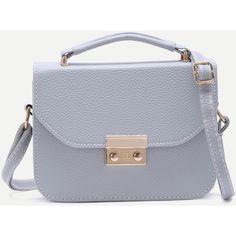 Grey Pebbled PU Box Handbag With Strap (61630 PYG) ❤ liked on Polyvore featuring bags, handbags, shoulder bags, grey, handbags shoulder bags, grey purse, grey shoulder bag, purses crossbody and man bag