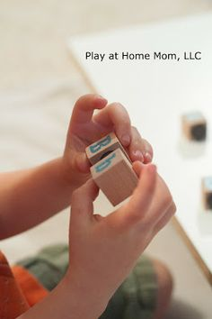 Play At Home Mom LLC: DIY Magnetic Match Blocks - Great idea from playathomemom3.blogspot.com. We follow them because they are a group of moms who have a firm belief in positive parenting and play based learning