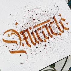 Calligraphy Alphabet Tutorial, Calligraphy Worksheet, Calligraphy Nibs, Arabic Calligraphy Design, Calligraphy Handwriting, Learn Calligraphy, Calligraphy Letters, Typography Letters, Hand Lettering For Beginners