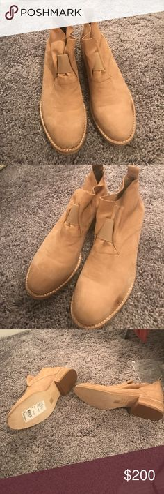 Eileen fisher boots Never worn but little scuff from being in my closet! So cute with jeans or skirts and very summery! Eileen Fisher Shoes Ankle Boots & Booties