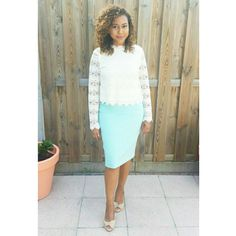 #Fashion #outfit #ootd #wedding #guest #inspo #mint #lace #Pastels
