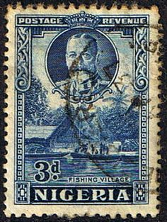 Nigeria 1936 King George V Nigeria 1936 King George V Fishing Village SG 37 Fine Used Scott 56 Other Nigerian Stamps HERE