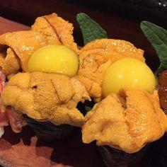 Can never get enough #uni #seaUrchin #sushi #hanabi #hanabiaustin #quaileggs #food #foodie #sushicoma by hiroantagonista