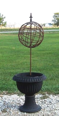 Orbit Sphere - Plant Support - Wrought Iron Garden Art Balls - Spheres in Many Sizes