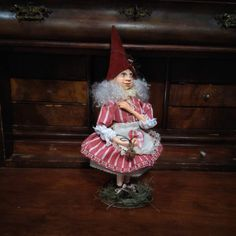 Christmas Elf - Fantasy Doll - Scandinavian Elf - Elf - Miniature - Handmade - Fairy - Doll - Christmas Decor - Fantasy - Art Doll - Faap by Rustiikkitupa on Etsy