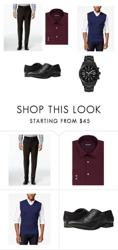 """""""30 year old man evening outfit"""" by alpha-girl-jamie on Polyvore featuring Calvin Klein, Unlisted by Kenneth Cole, Club Room and Fitzwell"""