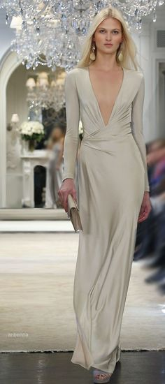 ralph lauren 2014. Long and slinky?  Would this asymmetry be ok?
