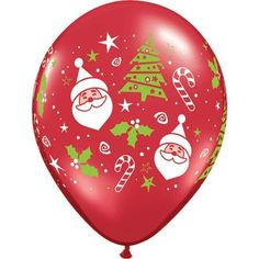 11 Santa  Christmas Tree Around Balloons 10 ct 10 per package >>> Want to know more, click on the image.  This link participates in Amazon Service LLC Associates Program, a program designed to let participant earn advertising fees by advertising and linking to Amazon.com.